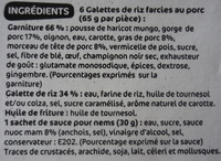 6 Nems au Porc et leur sauce - Ingredients - fr
