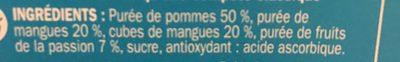 Compote allégée pomme mangue passion - Ingrédients - fr