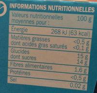 Compote allégée pomme mangue passion - Informations nutritionnelles - fr