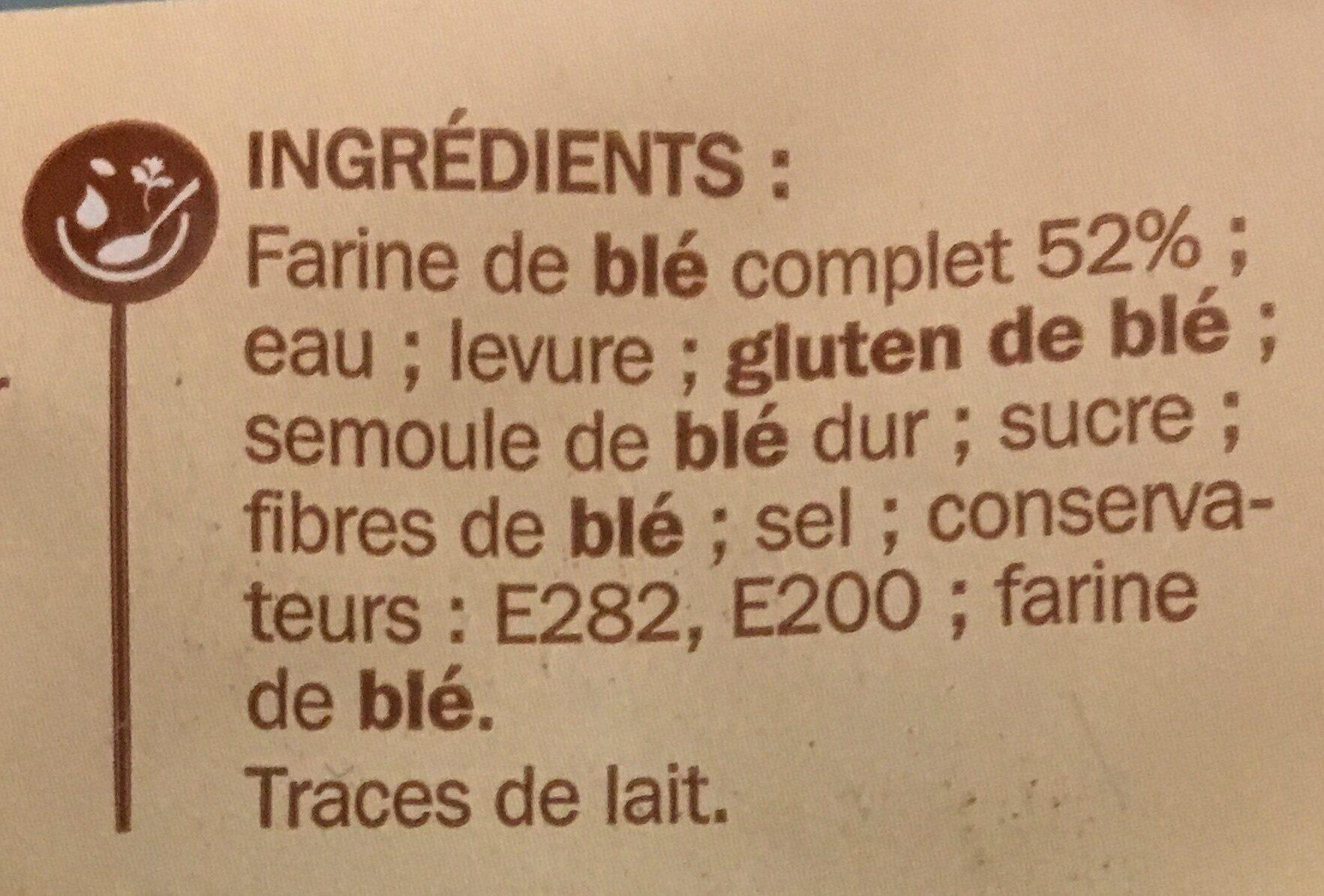 Muffins complets x 4 - Ingrédients - fr