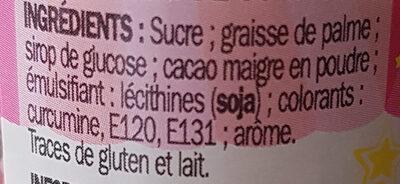 Vermicelles multicolores - Ingrédients - fr
