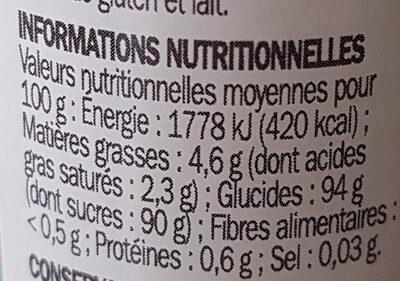 Vermicelles multicolores - Informations nutritionnelles - fr