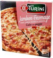 Pizza jambon/fromage cuite sur pierre pâte fine - Prodotto - fr