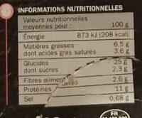Pizza jambon/fromage cuite sur pierre pâte fine - Valori nutrizionali - fr
