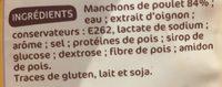 Manchons poulet nature - Ingrédients - fr