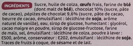 Brownie à partager chocolat pépites de chocolat - Ingrédients