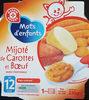 Mijoté De Carottes Et Bœuf, Assiette De 230 Grammes, Marque Mots D'enfants - Product