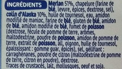 Panés de merlan - Ingredients