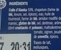 Panés de colin d'Alaska - Ingredients
