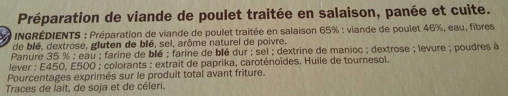 Nuggets de poulet X20 - Ingrediënten - fr
