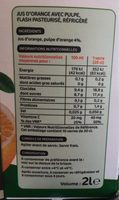 Pur jus d'orange de Floride réfrigéré - brique - Ingrediënten - fr