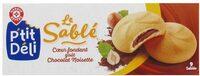 Sablés natures fourrés noisettes/cacao - Product