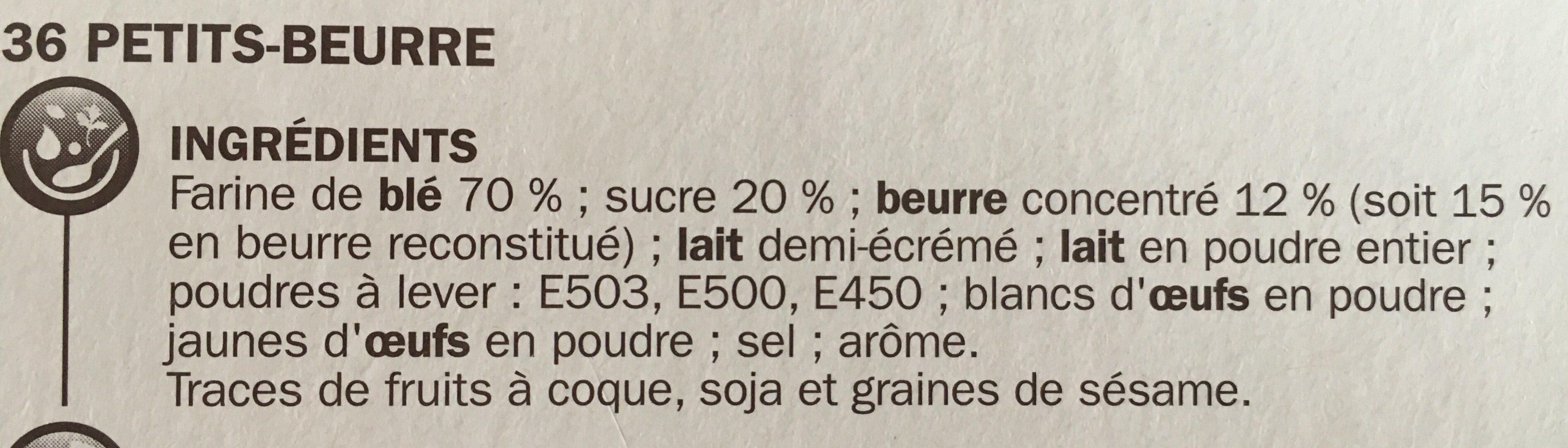 Petit beurre pocket - Ingredients - fr