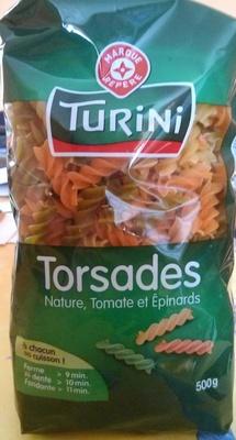 Torsades Nature, Tomate et Epinards - Produit