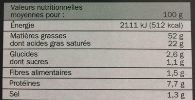 Foie Gras Entier du Sud-Ouest - Voedingswaarden