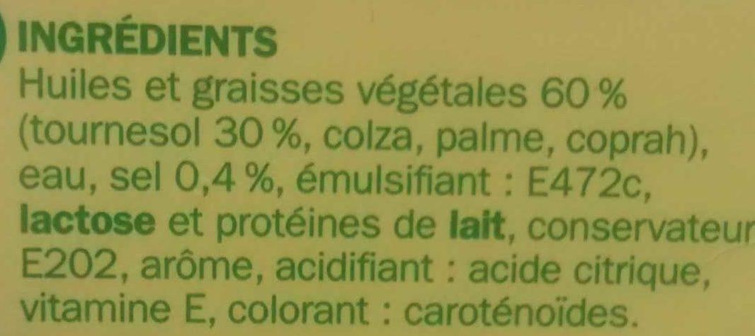 Margarine allégée au tournesol 60% Mat. Gr. - barquette - Ingrediënten - fr