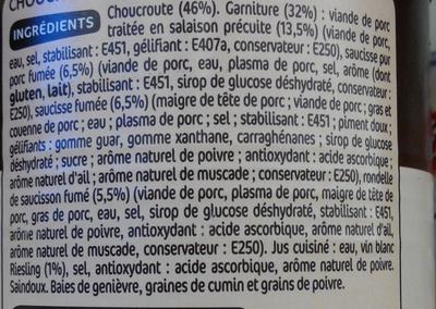 Choucroute royale - Ingrediënten - fr