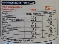 Choucroute royale - Voedingswaarden - fr
