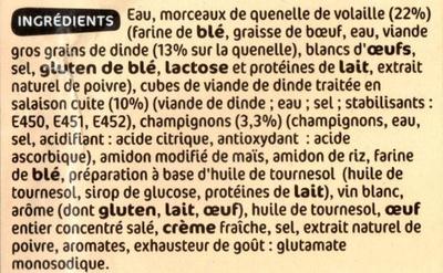 Garniture pour Bouchées à la Reine - Ingrediënten - fr