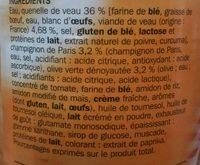 Quenelles de veau sauce financière - Ingrediënten