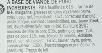 Friands à la viande - Ingredients