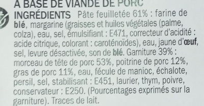 Friands à la viande - Ingrediënten - fr