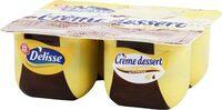Crème dessert vanille sur lit de chocolat - Produit - fr