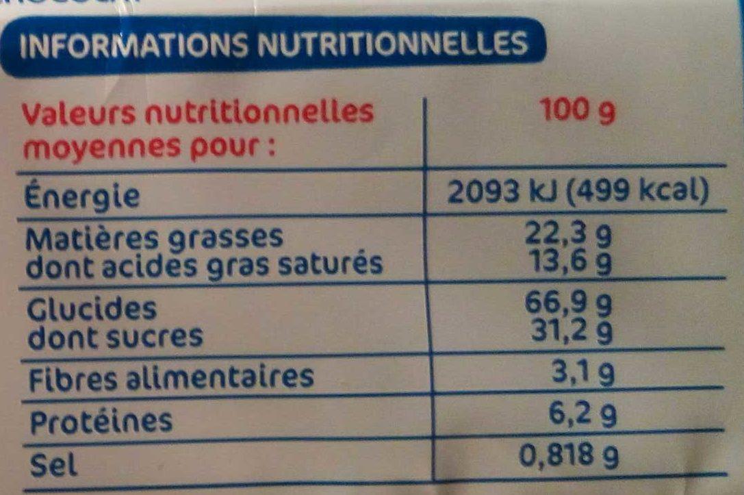 Galettes bretonnes pépites de chocolat - Informations nutritionnelles - fr
