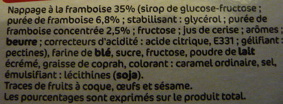 Sarbacanes nappage framboise - Ingredients - fr