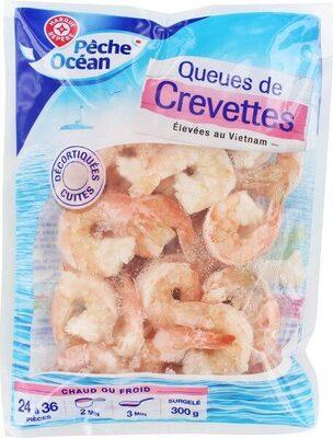 Queues de crevettes cuites sachet - Product