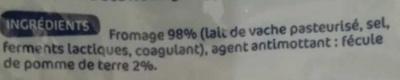 Fromage allégé 15%mg rapé - Ingrédients - fr