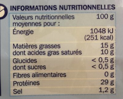 Fromage allegé 14% Mag. Gr. - 营养成分 - fr