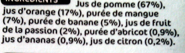 Pur jus multifruits - Ingredients