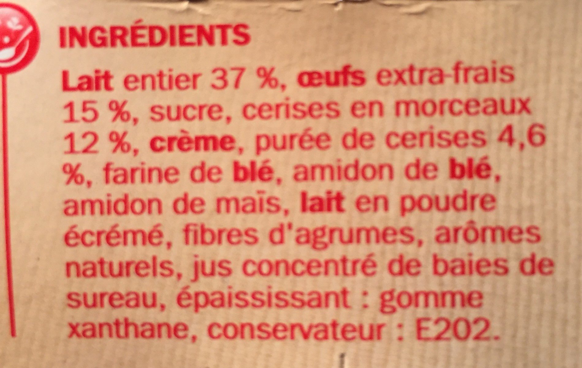 Clafoutis - Ingredients - fr