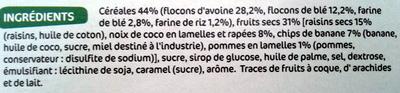 Muesli Croustillant aux fruits - Ingrédients - fr