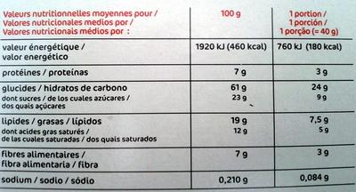 Muesli - Croustillant aux fruits - Informations nutritionnelles - fr