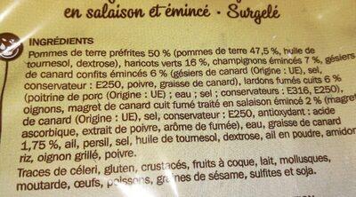 Poêlée landaise portionnable - Ingredients