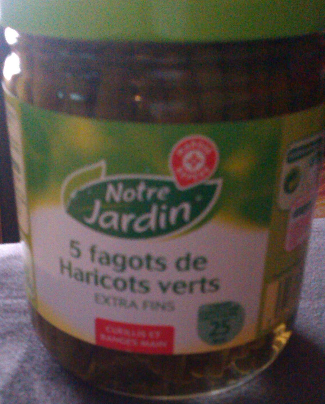 5 fagots de Haricots verts extra fins 405 g - Product