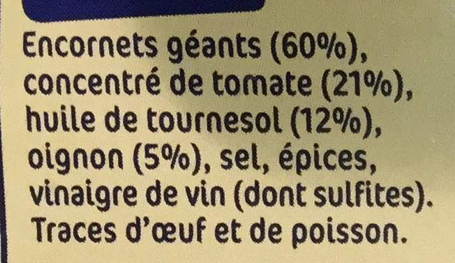 Encornets géants à l'américaine - Ingredients