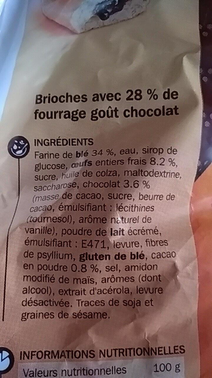 Brioches fourrées au chocolat x 8 - Ingrediënten - fr