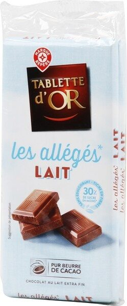 Chocolat au lait allégé en sucre - Product - fr