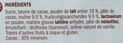 Chocolat au lait allégé en sucre - Ingrediënten - fr