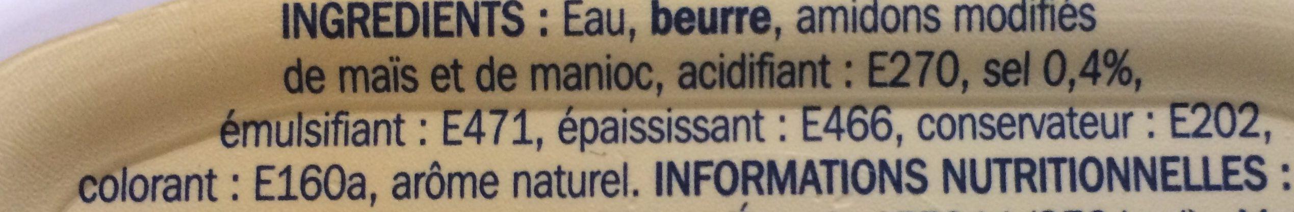 Beurrier tendre et léger doux 40 % Mat. Gr. - Ingredients - fr