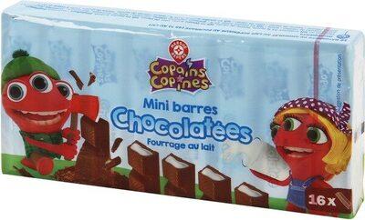 Mini-barres chocolatées fourrées au lait x 16 - Produit - fr