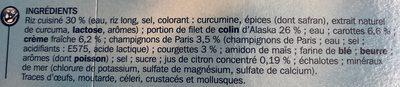 Colin d'Alaska sauce citron riz safrané barquette - Ingrédients - fr