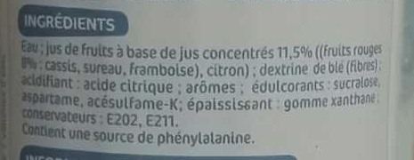 Frucci - Sans sucres Parfum Grenadine - Ingredients - fr