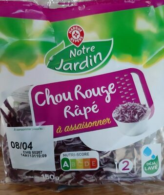 Chou rouge râpé - Produit - fr