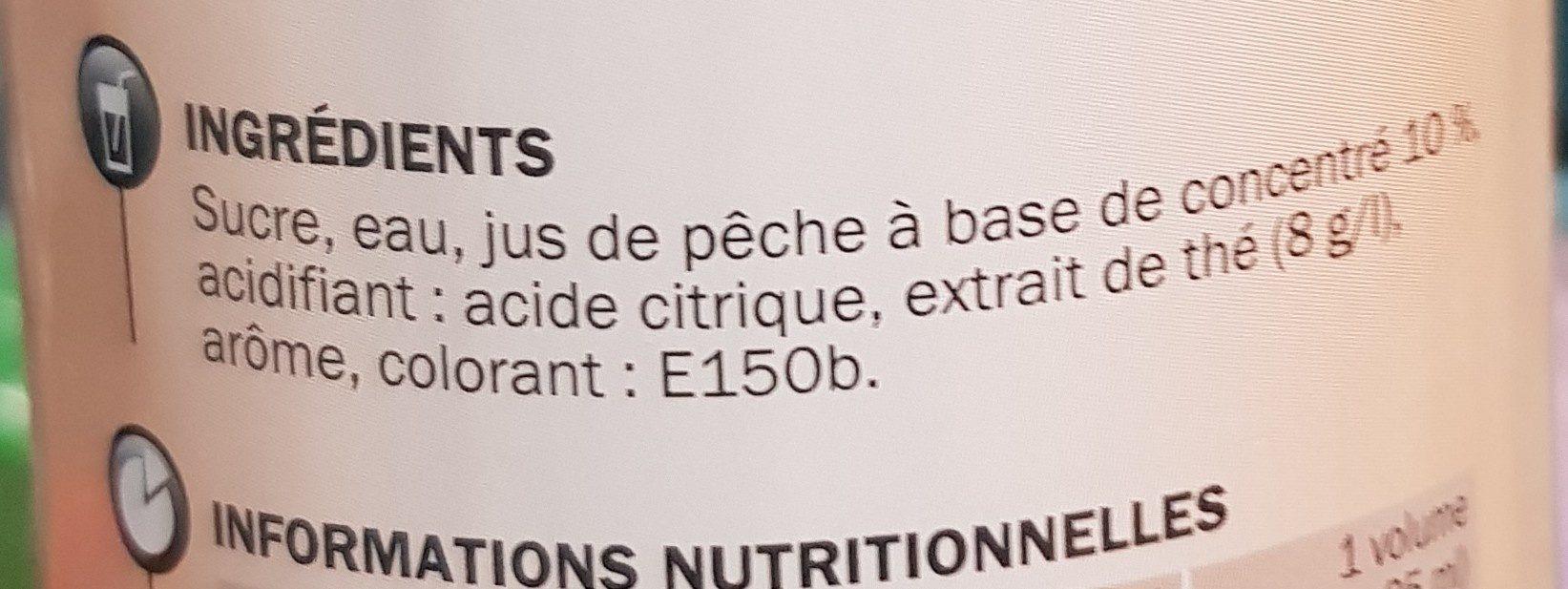 Sirop de thé pêche - Ingredients