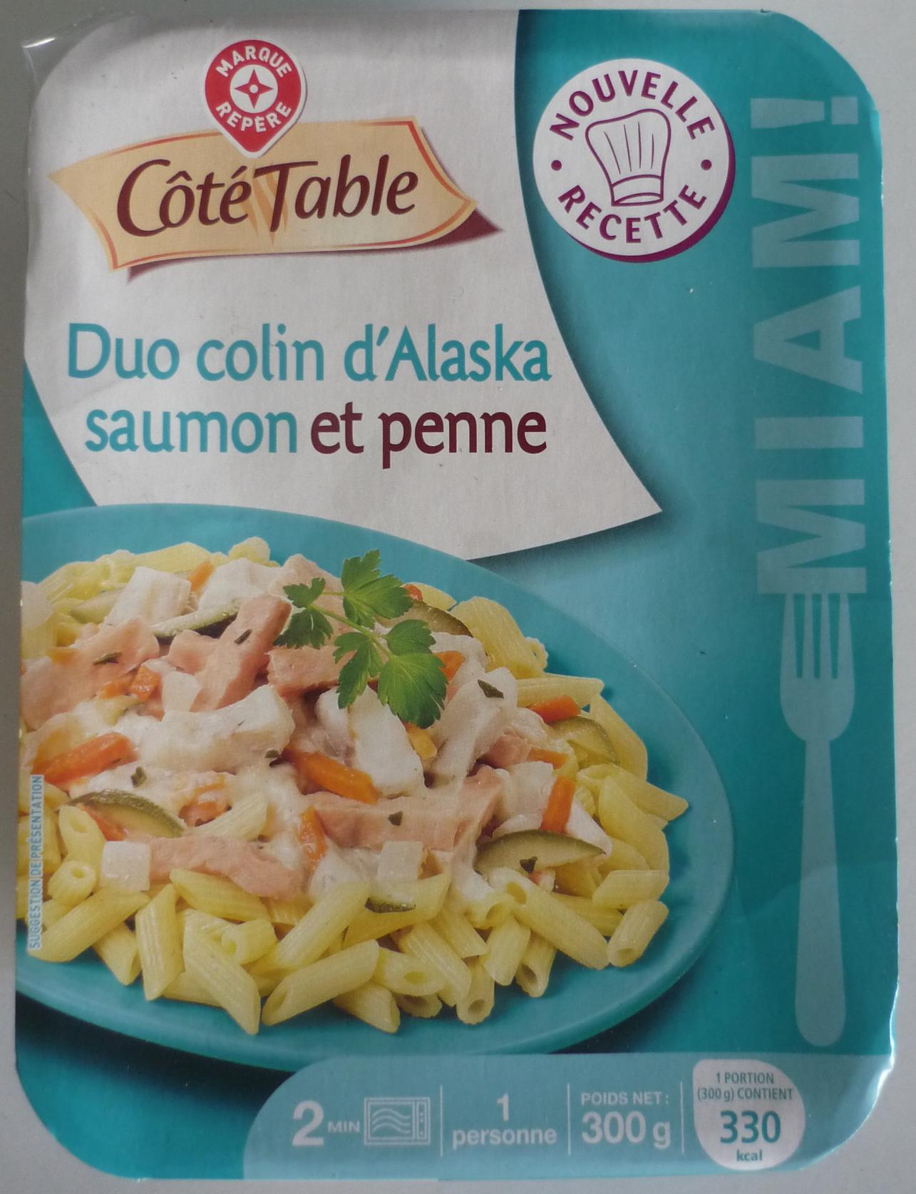 Duo colin d'Alaska saumon et penne - Product - fr