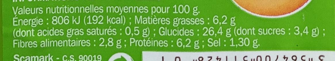 Côté snack - Plaisir & Gourmandise Surimi Crudités - Informations nutritionnelles - fr
